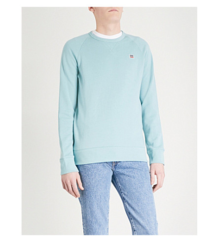 LEVI'S Logo-detail cotton-jersey sweatshirt (Cameo+blue