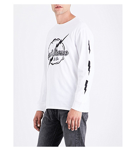 LEVI'S Logo-print cotton-jersey top (Lightning+white