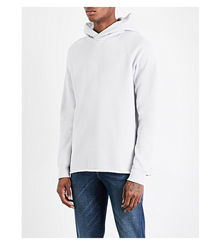 LEVIS MADE & CRAFTED Unhemmed cotton-blend hoody (Hi-rise