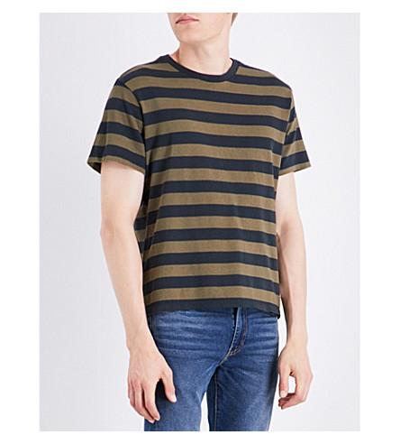 LEVI'S Mighty striped cotton-jersey T-shirt (Bass+stripe+overdye