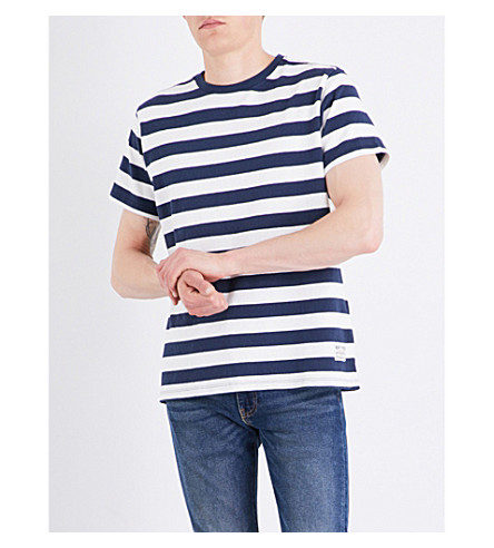 LEVI'S Mighty striped cotton-jersey T-shirt (Bass+stripe+dress+blues