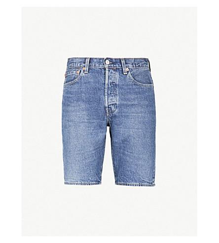 LEVI'S 501 stretch-denim shorts (Bleu+eyes+short