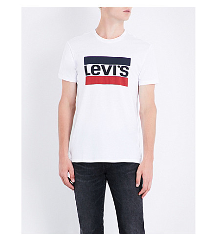 LEVI'S Sports-logo cotton-jersey T-shirt (White
