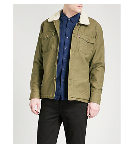 LEVI'S Sherpa Military cotton jacket (Olive+night