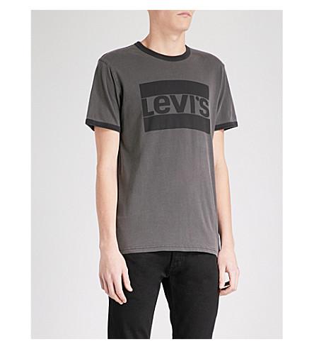 LEVI'S 标志-打印棉质平纹针织衫 t恤衫 (超过 + 染料
