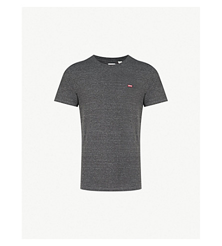 LEVI'S Original branded cotton-jersey T-shirt (Tri-blend/patch obsidian