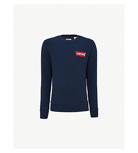 LEVI'S Modern cotton-blend sweatshirt (Dress blues