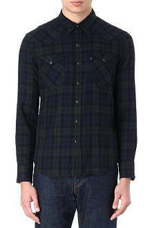 LEVI'S Western checked cotton shirt