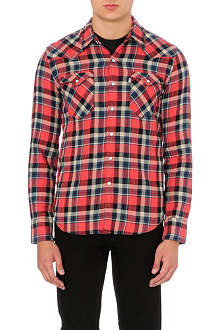 LEVI'S Barstow western plaid cotton shirt