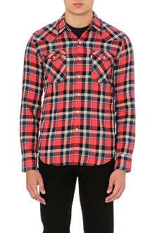 LEVI'S Barstow western plaid cotton shirt