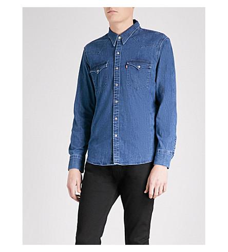 LEVI'S Barstow Western regular-fit denim shirt (Brooklyn+stretch+mid