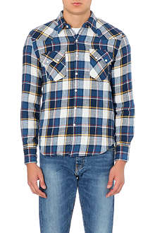 LEVI'S Sawtooth-pocket western plaid shirt