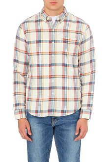 LEVI'S One-pocket plaid cotton shirt