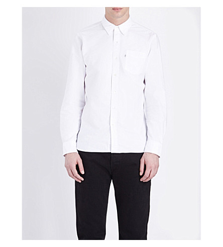 LEVI'S Regular-fit single-cuff cotton shirt (White+cn-100x