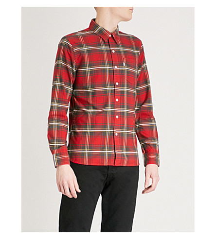LEVI'S Tartan cotton shirt (Swift+chinese+red