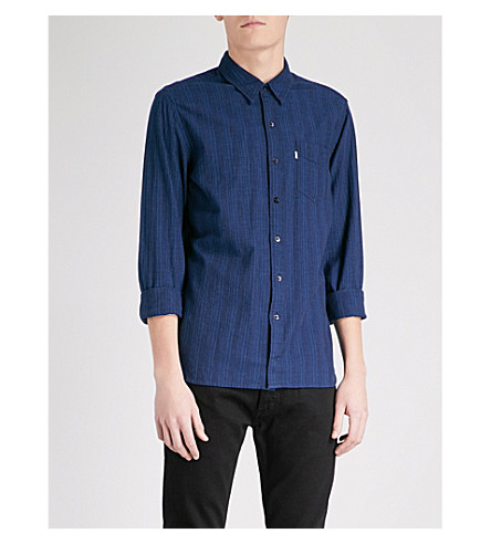 LEVI'S Sunset lined regular-fit cotton shirt (Loon+indigo