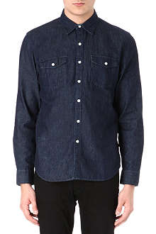 LEVIS VINTAGE Rinse cotton-denim shirt
