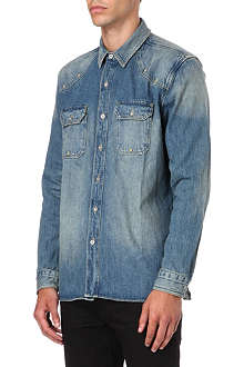 LEVI'S Destroyed denim shirt