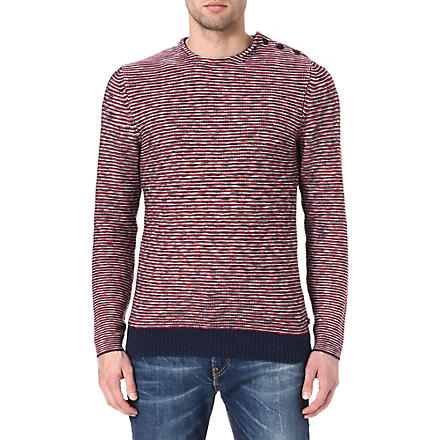 LEVI'S Textured knit jumper (Red