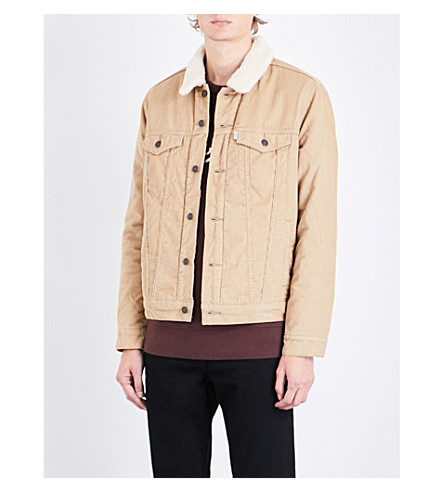 LEVI'S The Trucker sherpa-lined corduroy jacket (Chino