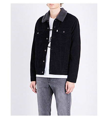 LEVI'S The Trucker sherpa-lined corduroy jacket (Black