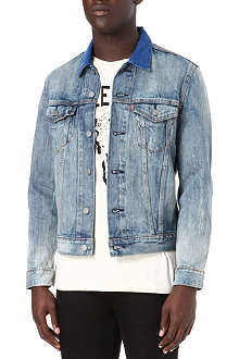 LEVI'S Washed denim trucker jacket