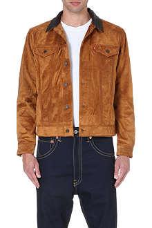 LEVI'S Suede trucker jacket