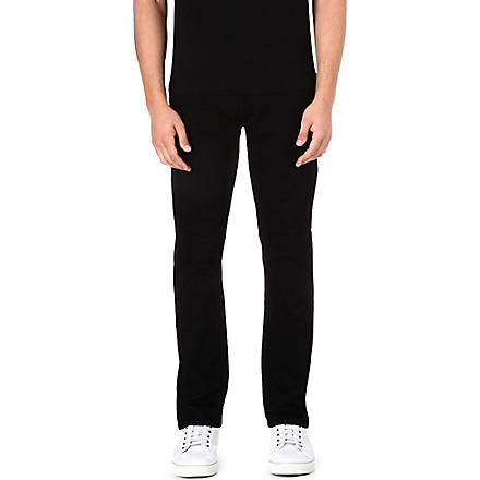 LEVI'S 508 regular-fit tapered jeans (Black/black