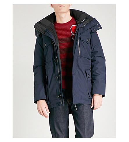 CANADA GOOSE 德蒙德3在1软壳面料皮大衣 (上将 + 蓝色