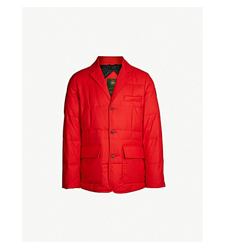 CANADA GOOSE Henry Poole wool-felt down three-button jacket (Red