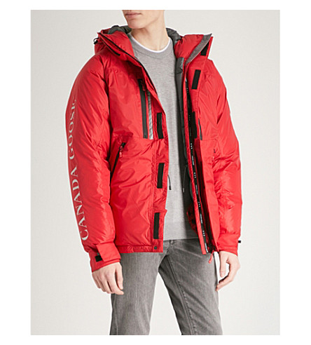 CANADA GOOSE Skreslet hooded shell-down parka jacket (Red+-+rouge