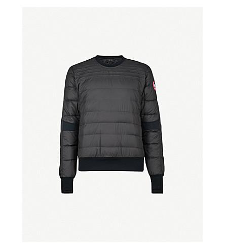CANADA GOOSE Padded shell-down sweatshirt (Black
