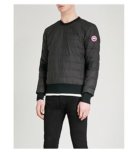 CANADA GOOSE Padded shell-down sweatshirt (Black