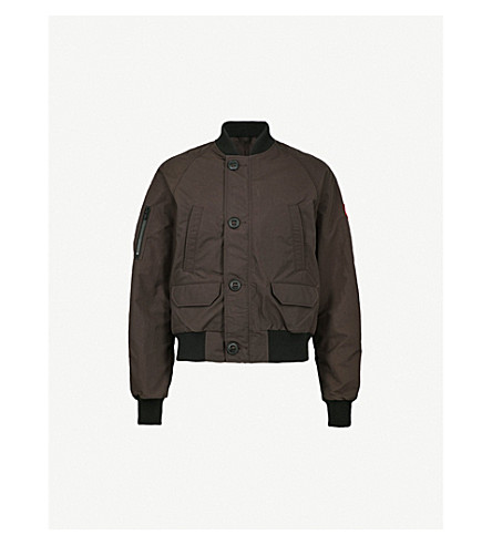 CANADA GOOSE Faber shell bomber jacket (Charred+wood