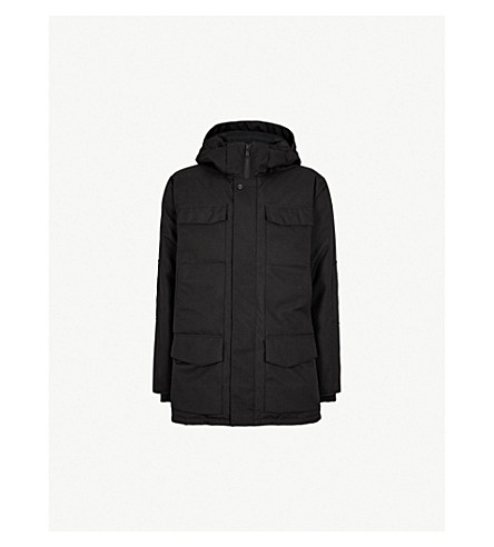 CANADA GOOSE Windemere hooded quilted shell-down coat (Black+herringbone