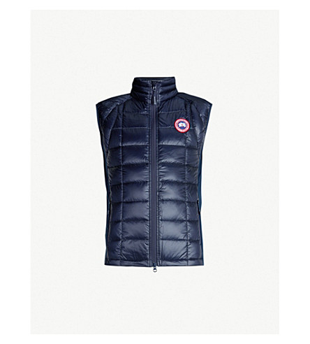 CANADA GOOSE Hybridge lite quilted shell-down gilet (S:ad+blu/l:black