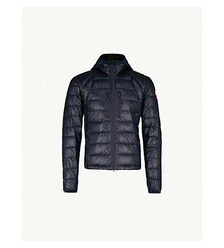 CANADA GOOSE Hybridge Lite quilted shell jacket (S:ad+blu/l:black-