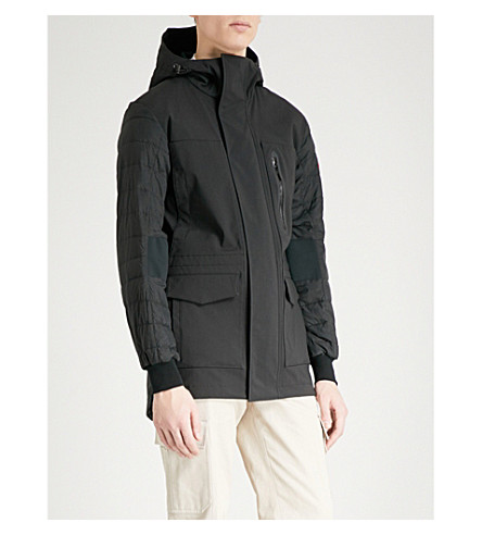 CANADA GOOSE Selwyn hooded shell-down coat (Black+black