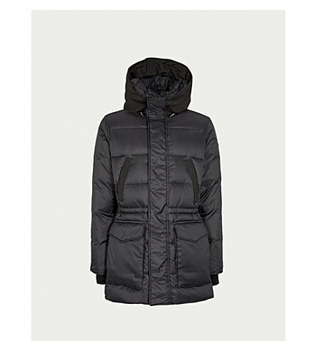CANADA GOOSE Silverthorne hooded quilted shell-down parka jacket (Black+-+noir