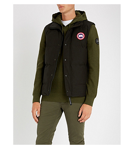 CANADA GOOSE Garson padded shell-down vest (Black