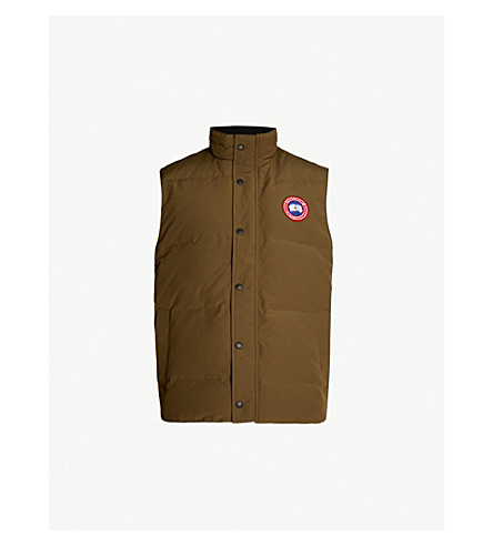 CANADA GOOSE Garson padded shell-down gilet (Military green