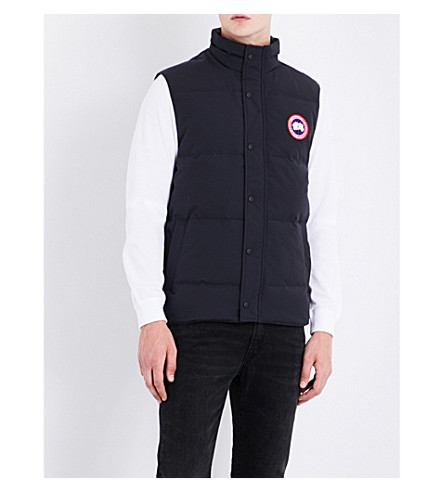 CANADA GOOSE Garson padded shell-down gilet (Navy