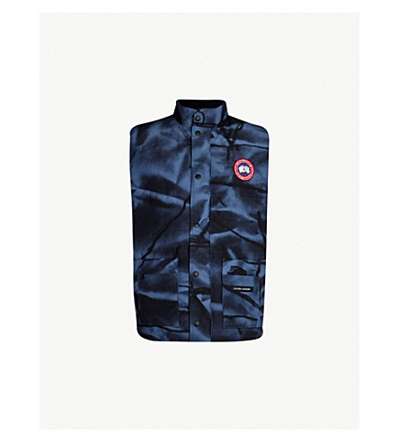 CANADA GOOSE Freestyle Crew padded shell-down gilet (Abstr+camo+blu