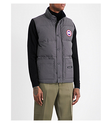 CANADA GOOSE Freestyle Crew padded shell-down gilet (Graphite