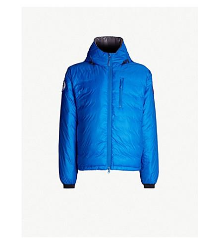 CANADA GOOSE Lodge hooded shell-down jacket (Royal+pbi+blue