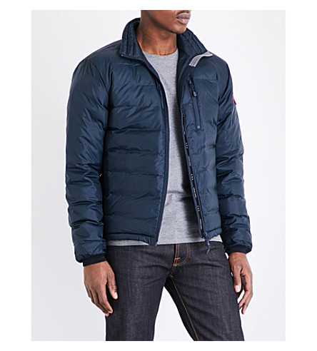 CANADA GOOSE Lodge quilted shell jacket (Ink+blue