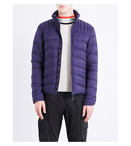 CANADA GOOSE Brookvale quilted shell-down jacket (Deep+sea+blue/+l:+black