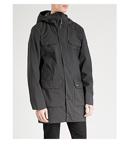 CANADA GOOSE Harbour adjustable shell jacket (Black+black