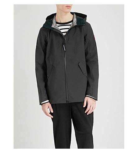 CANADA GOOSE Riverhead seam-sealed shell jacket (Black+black