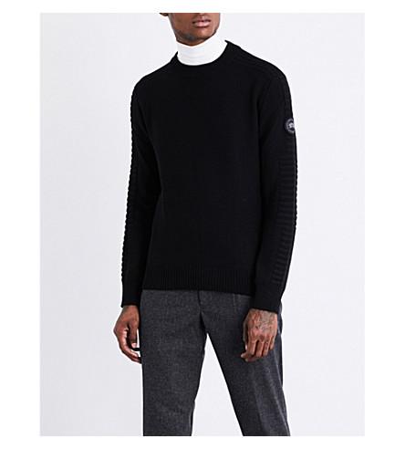 CANADA GOOSE Paterson wool jumper (Black